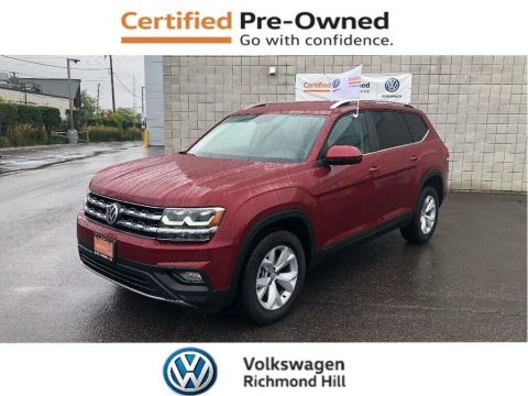 Certified Pre-Owned 2018 Volkswagen Atlas 2.0 TSI Comfortline Certified Pre Owned