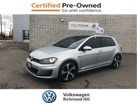 Certified Pre-Owned 2016 Volkswagen GTI 5-Door Autobahn/Leather/Technology Pkg/CPO