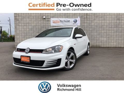 Certified Pre-Owned 2015 Volkswagen GTI 3-Door
